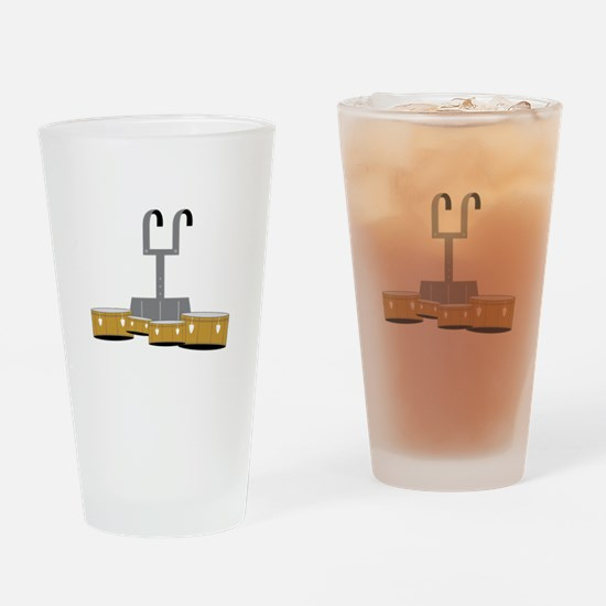 Quad Drums Drinking Glass