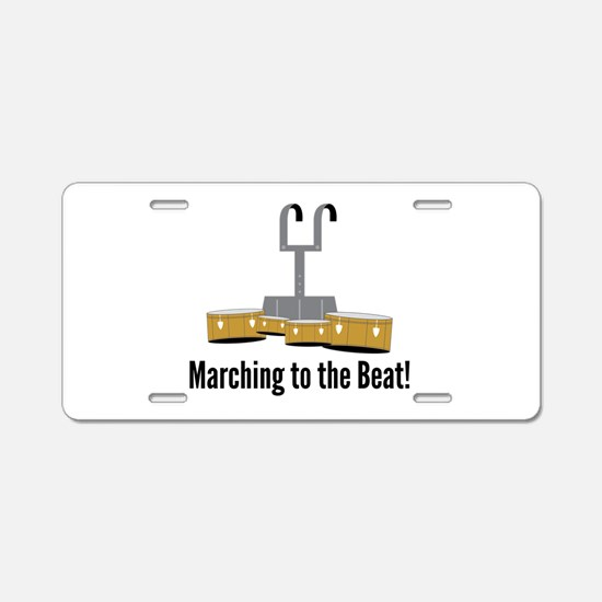 Marching Beat Aluminum License Plate