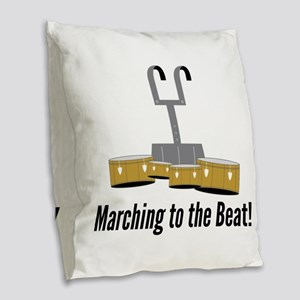 Marching Beat Burlap Throw Pillow