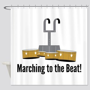 Marching Beat Shower Curtain