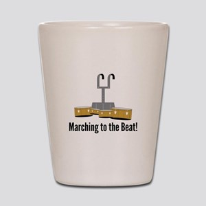 Marching Beat Shot Glass