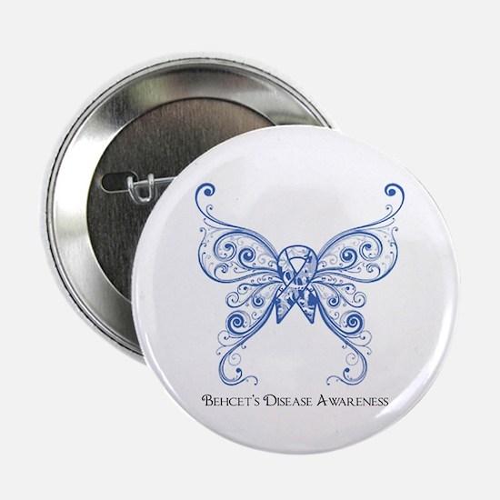 """Awareness Butterfly 2.25"""" Button"""