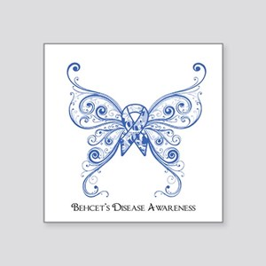 "Awareness Butterfly Square Sticker 3"" x 3"""
