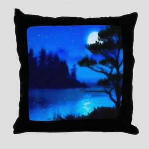 Sparkling Lake Throw Pillow