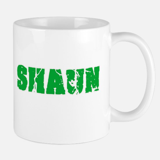 Shaun Name Weathered Green Design Mugs