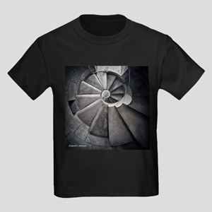 Sagrada's staircaise Kids Dark T-Shirt