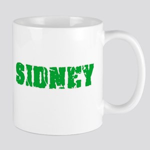 Sidney Name Weathered Green Design Mugs
