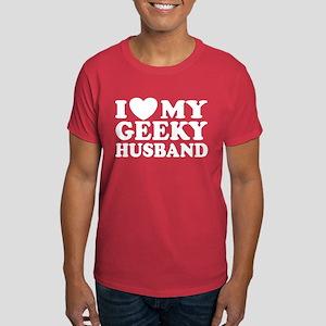 I Love My Geeky Husband Dark T-Shirt