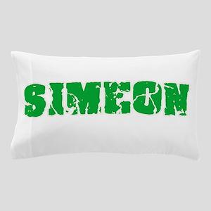 Simeon Name Weathered Green Design Pillow Case