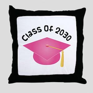 2030 pink hat david Throw Pillow