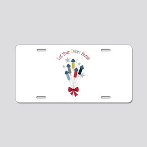 Let Colors Burst Aluminum License Plate