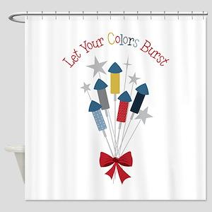 Let Colors Burst Shower Curtain