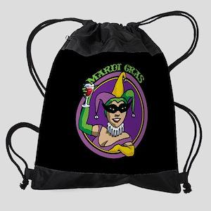 mardi-gras-girl_12x18.png Drawstring Bag