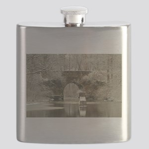 An Arched Stone Bridge Flask