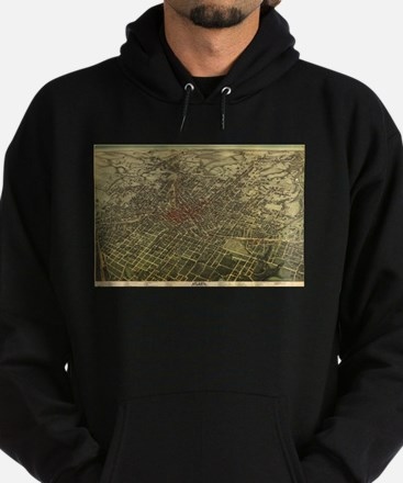 Vintage Map of Atlanta (1892) Hoodie (dark)