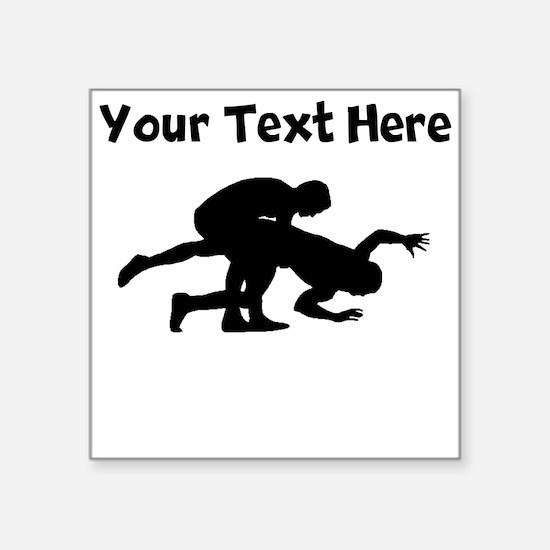 Wrestling Silhouette Sticker