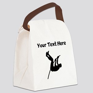 Pole Vaulter Silhouette Canvas Lunch Bag