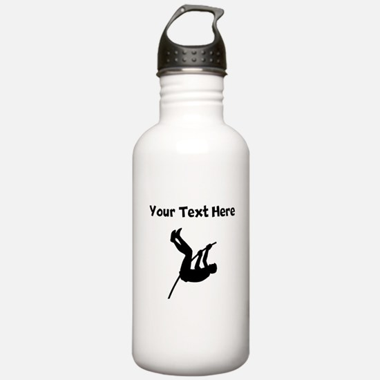 Pole Vaulter Silhouette Water Bottle