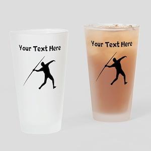 Javelin Throw Silhouette Drinking Glass