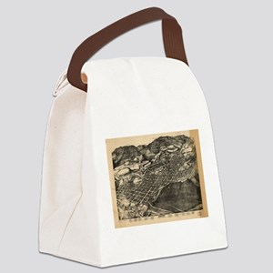 Vintage Pictorial Map of Aspen Co Canvas Lunch Bag