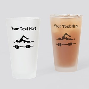 Swimmer Drinking Glass