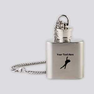 Speed Skater Silhouette Flask Necklace