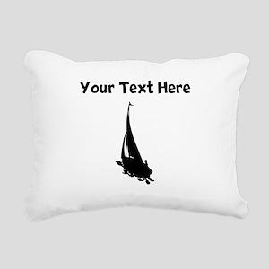 Sail Boat Silhouette Rectangular Canvas Pillow