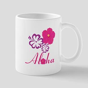 Pink Hibiscus Aloha Mugs