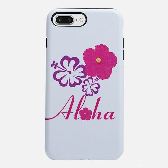 Pink Hibiscus Aloha iPhone 8/7 Plus Tough Case