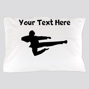 Jump Kick Silhouette Pillow Case