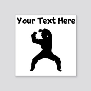 Martial Artist Silhouette Sticker