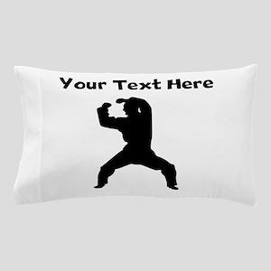 Martial Artist Silhouette Pillow Case