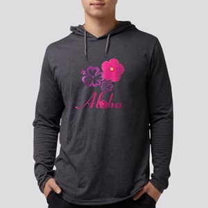 Pink Hibiscus Aloha Long Sleeve T-Shirt