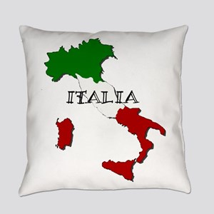 Italy Flag Map Everyday Pillow