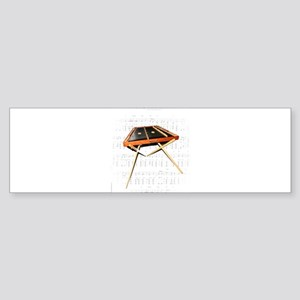 A Hammer Dulcimer Bumper Sticker