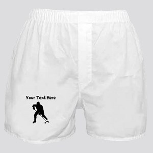 Hockey Player Silhouette Boxer Shorts
