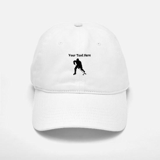 Hockey Player Silhouette Baseball Baseball Baseball Cap