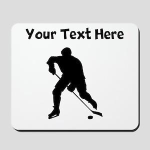 Hockey Player Silhouette Mousepad