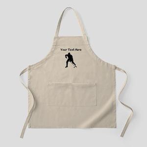Hockey Player Silhouette Apron