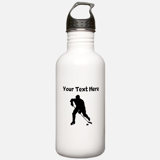 Hockey Player Silhouette Water Bottle