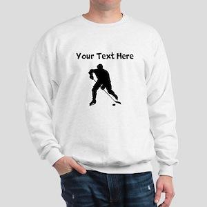 Hockey Player Silhouette Sweatshirt
