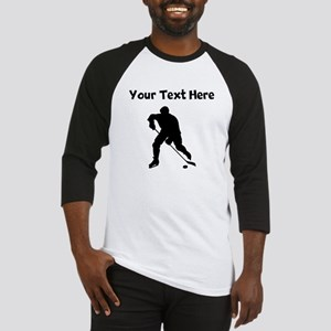 Hockey Player Silhouette Baseball Jersey