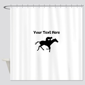Horse Racing Silhouette Shower Curtain