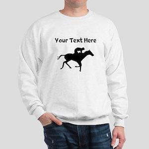 Horse Racing Silhouette Sweatshirt