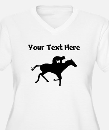 Horse Racing Silhouette Plus Size T-Shirt