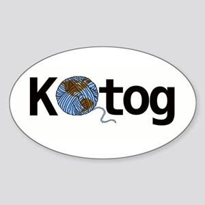 Knit the world together Sticker