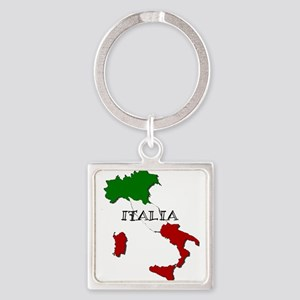 Italy Flag Map Keychains