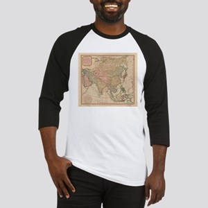 Vintage Map of Asia (1799) Baseball Jersey