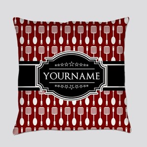 Black and Red Pattern Personalized Everyday Pillow