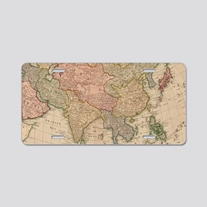 Vintage Map of Asia (1799) Aluminum License Plate